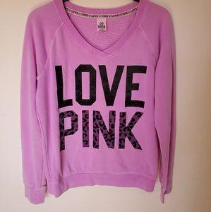 Pink Victoria's secret large sweatshirt